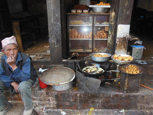 2013 Lunch is served at this Little Street Food Stall in Bhaktapur