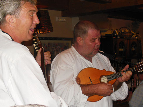 Entertainers at the Ceoska Kuca Winery in Cilipi up the Coast from Dubrovnik