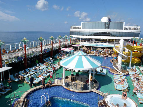 2016 The Pool Deck on Norwegian Gem is always Alive with Activity