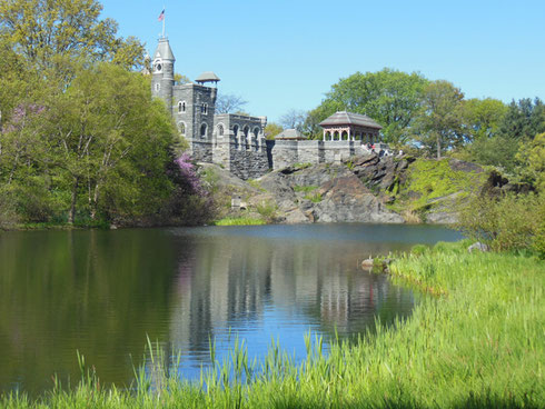 Belvedere Castle and the Frog Pond Lie in the Heart of New York's Central Park