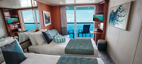 Balcony Cabins aboard the Gem have been Recently Refurbished