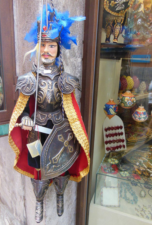 2013 Taormina is Famous for these Puppets that you find for Sale Everywhere