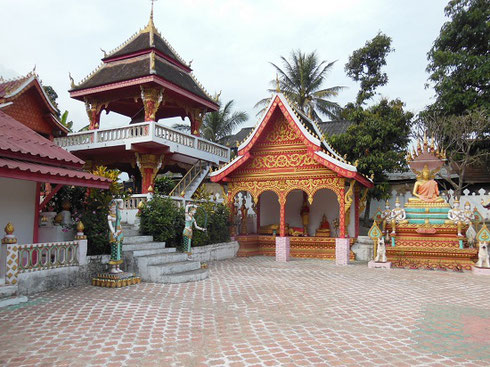 2015 Across the River from the Caves at Pak Ou we visited a small village with this Temple