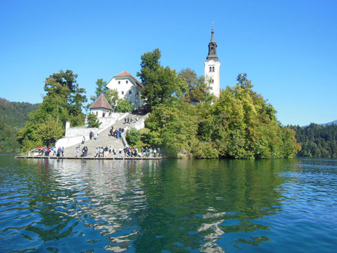 You Need to Climb 99 Steps to Reach the Church of the Assumption on Lake Bled Island