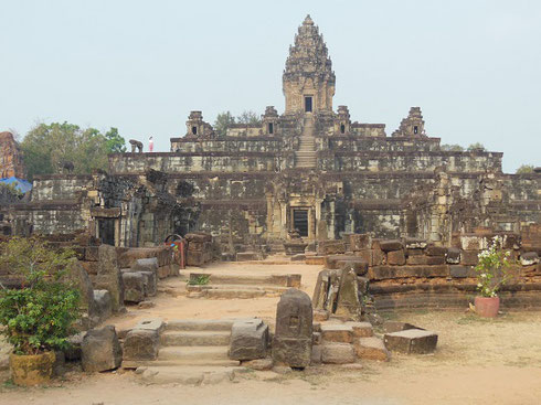 2015 A Beautiful View of the Ruins of the Ancient Temple of Bakong