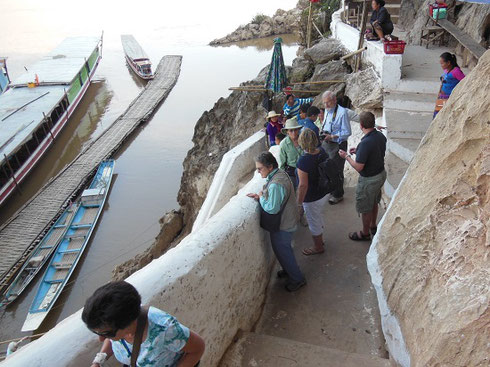 2015 The Stairways up into the Caves at Pak Ou wind up and up and up