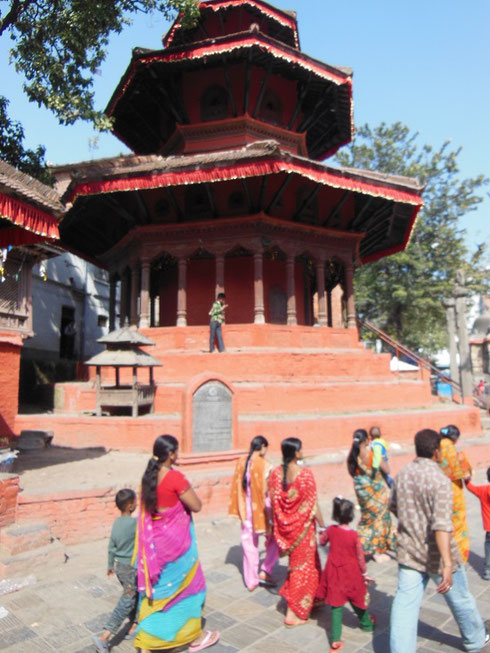 2013 The Stunning Red Temple at Durbar Square in Kathmandu, Nepal