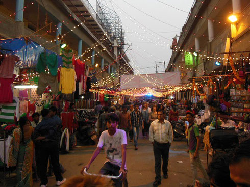 2013 Our Group visited a Street Market in Agra during the Festival of Diwali