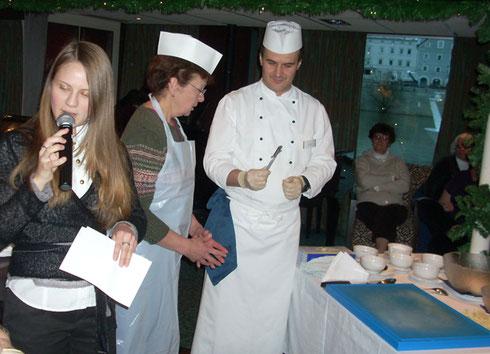 2010 Tatiana Announces a Streudel Lesson Aboard our River Cruise on the Amadeus Elegant