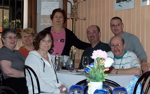 2005 Our Proprietess Agreed to Pose with us at Lunch near the Piazza Navona