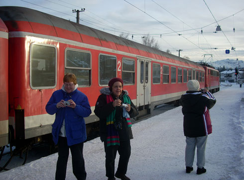2008 Here we are in Seefeld, Austria Just off the Train and Ready for a Sleigh Ride
