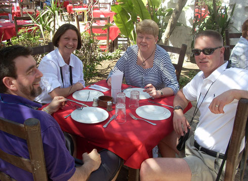 2009 Just Days Before, we were Fighting Snow Storms - Here a Pleasant Outdoor Lunch