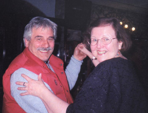 2005 Jane Dances with our Driver Franco at a Party in the Tuscan Countryside
