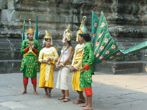 2015 A Dance Performance on the Second Level Courtyard of Angkor Wat Temple
