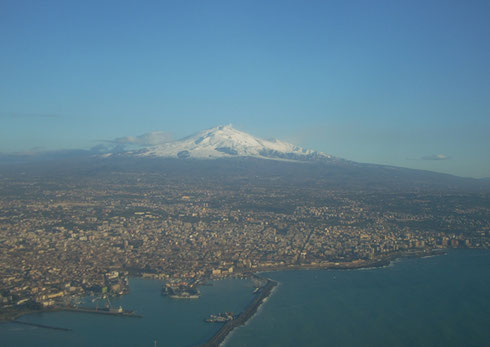 2011 Sicily's Mount Etna as Seen from the Air on the Approach to Catania Airport