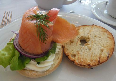 Smoked Salmon on a Bagel is a Breakfast Treat