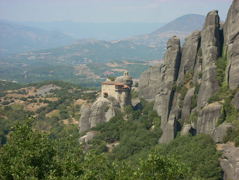 2011 Meteora - The Monastery of Roussano is Accessible only by a Basket Raised by Ropes