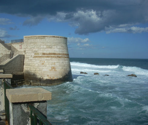The Seawall at Syracuse features some of the Best Surf in the Mediterranean