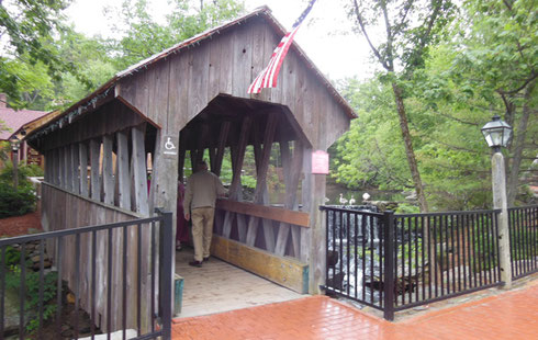 The Old Mill Entrance is via Covered Bridge by the Mill Pond