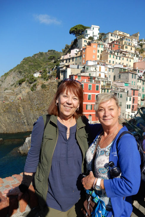 2018 Our Guide in beautiful Cinque Terre with one of our passengers