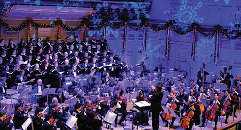 The Boston Pops Christmas Concert on stage