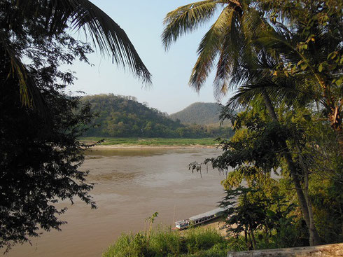 2015 A View of the Mekong River from a Vantage Point in Luang Prabang