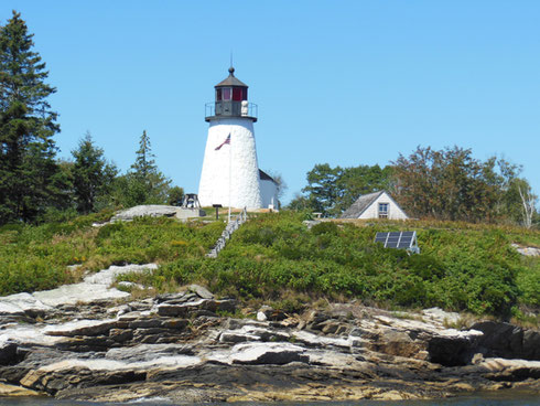 Burnt Island Lighthouse is only one of the Sights at Boothbay Harbor, Maine