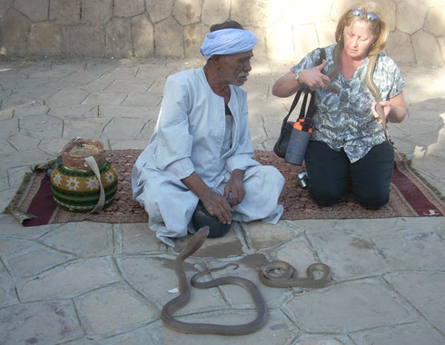 2009 The Snake Charmers at the Temple of Kum Ombo are Very Accommodating