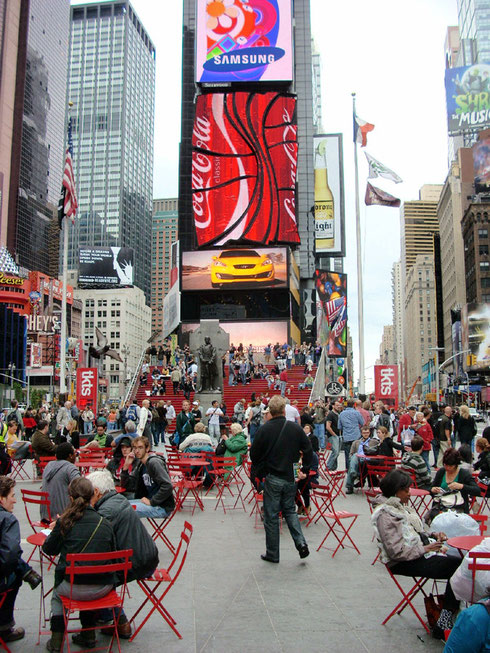 Times Square is always a Hub of Activity for New York City Tourists!