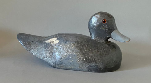 Small folk art decoy duck