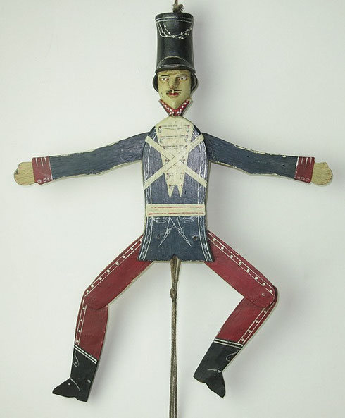 19th centuryfolk art hussar jumping jack