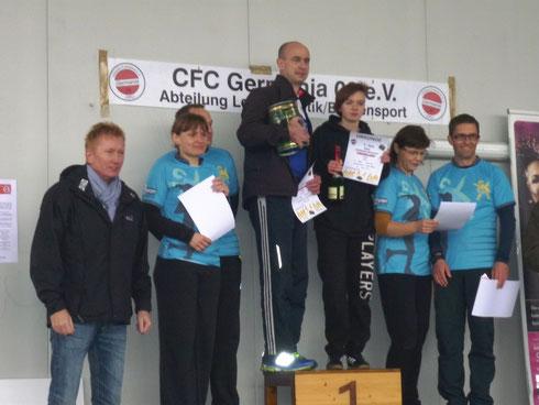 Siegerehrung der Mixed-Staffeln