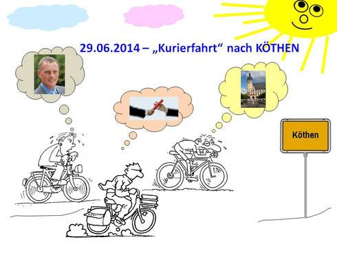 Unsere Radsportfreunde unterwegs!