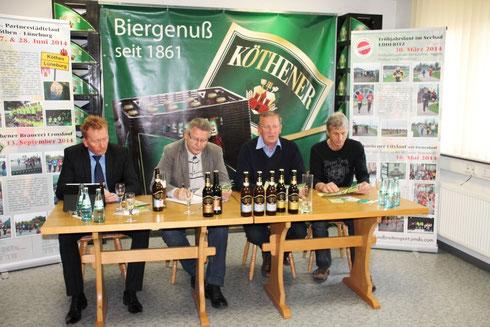 08.04.2014 Pressekonferenz - M. Schölzel - H. Hartmann - G. Grohmann - E. Zabel