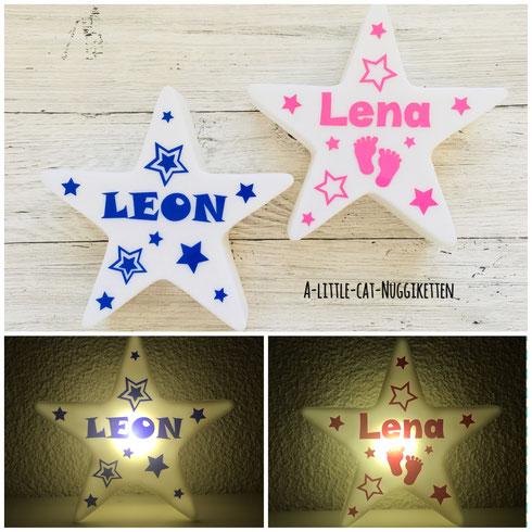 LED-Stern mit Name, Nachtlicht Baby, Nachtlicht Kinder, Nachtlicht Name, LED-Stern personalisiert