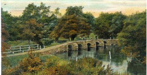 The 15th century Packhorse Bridge