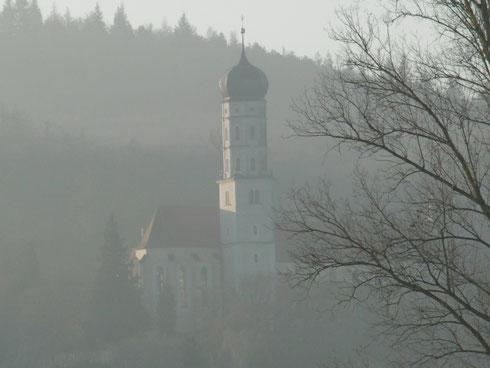 Klosterkirche Mönchsdeggingen am 27. Dezember 2015 - morgens