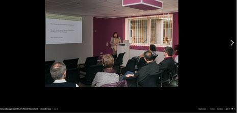 Vortrag zur psychosomatischen Perspektive in der Schmerzbehandlung am 06.12.2015 in der Helios Klinik Wipperfürth