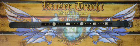 Kaiser Tracht Trachtengürtel, Echtleder, Rollengürtelschnalle Doppeldorn, Leder, Gürtel, Ledergürtel, Unikat, hochwertige Beschlagteile