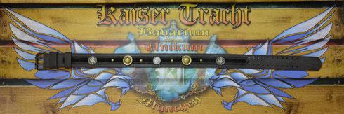 Kaiser Tracht Trachtengürtel, Echtleder, Gürtelleder, Unikat, Handarbeit, Hochwertige Beschlagteile, Rollenschließe mit Doppeldorn, Ledergürtel, Gürtel