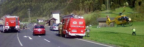 4. Mai 2013: Verkehrsunfall mit einem Schwerverletzten in Stall/Pußtratten