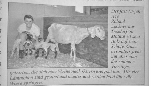 "April 2015: Der Volltreffer berichtet ""tierisch"" aus Tresdorf"