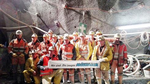 ... auch junge Mölltaler, die im Tunnelbau beschäftigt sind, freuen sich schon auf das Jubiläumsfest