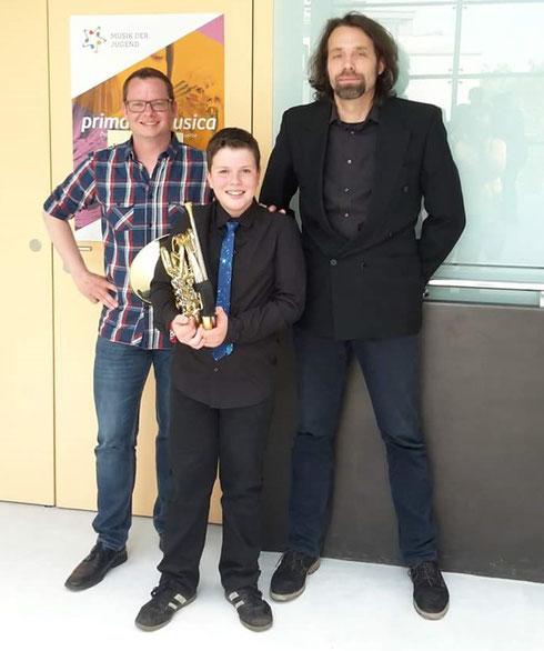 """gesehen auf facebook 2017: Höchst erfolgreiche Teilnahme von Kilian am Bundeswettbewerb """"prima la musica"""" ... wir gratulieren unserem jungen Spitzenmusiker zu Platz 2"""
