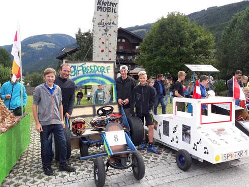 Seifenkistenrennen beim Familienfest in Lainach ... wir waren dabei ...