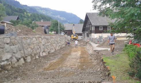 Sommer 2014: Beginn Straßenbau an der Ortsdurchfahrt