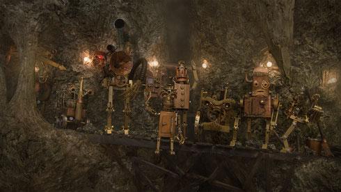 Zum Abschied haben sich alle Minenroboter nochmal zu einem Gruppenbild zusammengefunden ;)