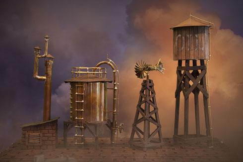 Einige der ersten Details welche ich für das Stadt-Set gebaut habe...