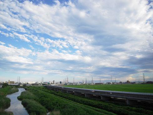 砂押川と仙台東部道路