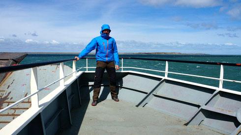 gut Festhalten, es ist extrem windig, aber wir sind ja auch in Patagonien..
